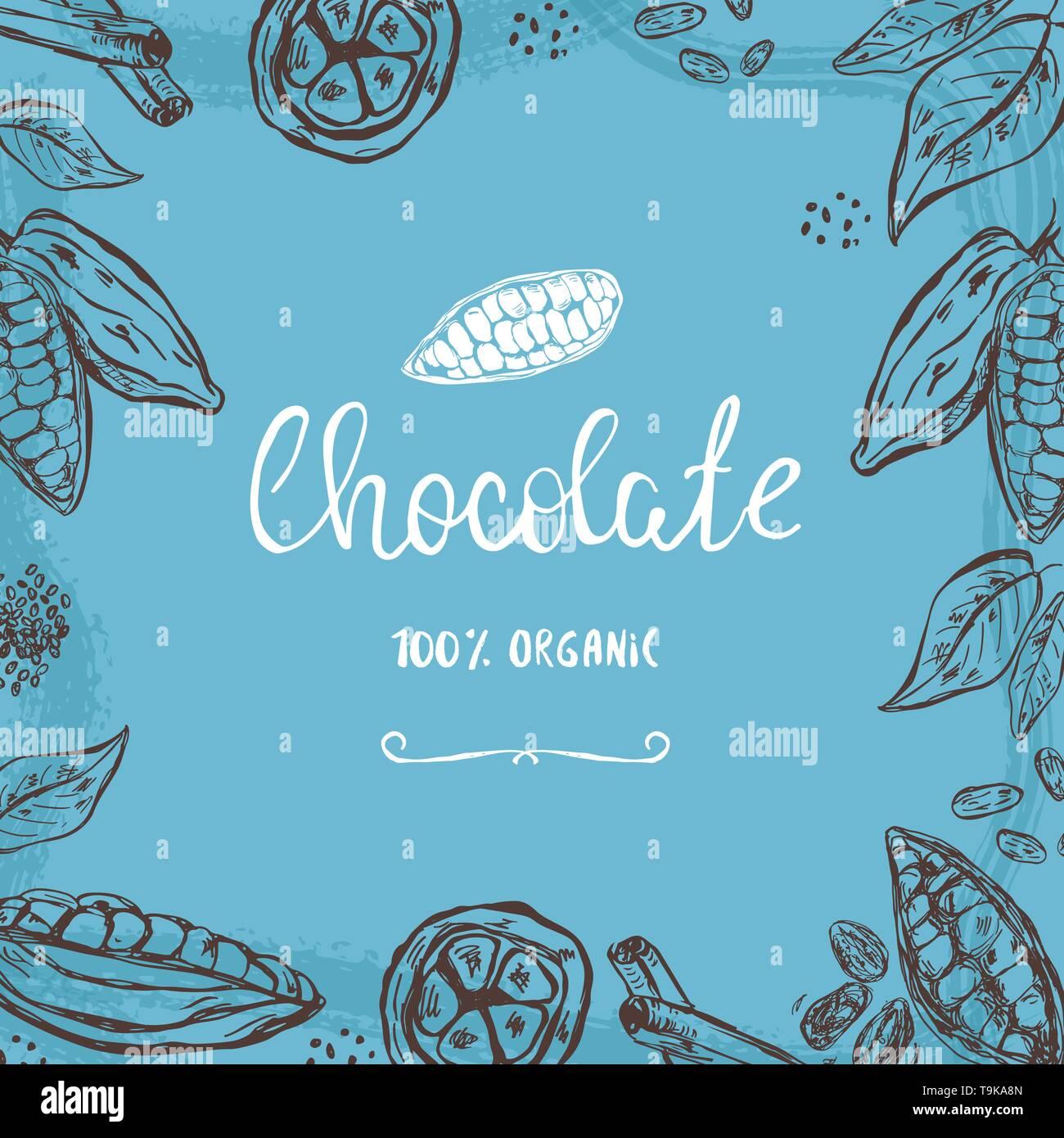 Cocoa Pod Illustration Stock Photos & Cocoa Pod