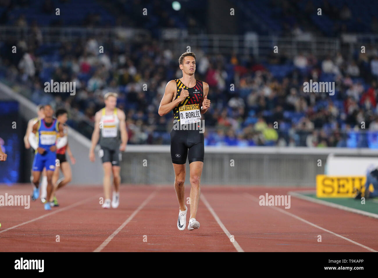 YOKOHAMA, JAPAN - MAY 10: Dylan Borlée of Belgium during Day 1 of the 2019 IAAF World Relay Championships at the Nissan Stadium on Saturday May 11, 2019 in Yokohama, Japan. (Photo by Roger Sedres for the IAAF) - Stock Image