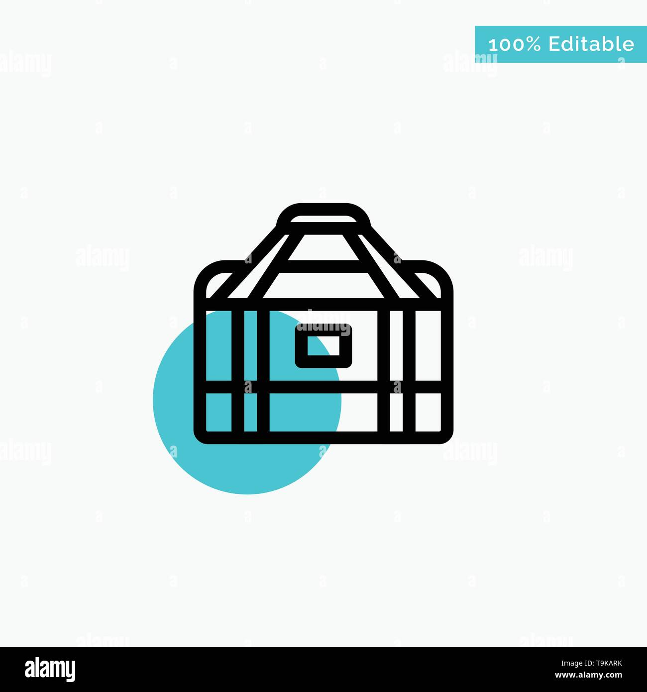 Bag, Equipment, Gym, Sports turquoise highlight circle point Vector icon - Stock Image