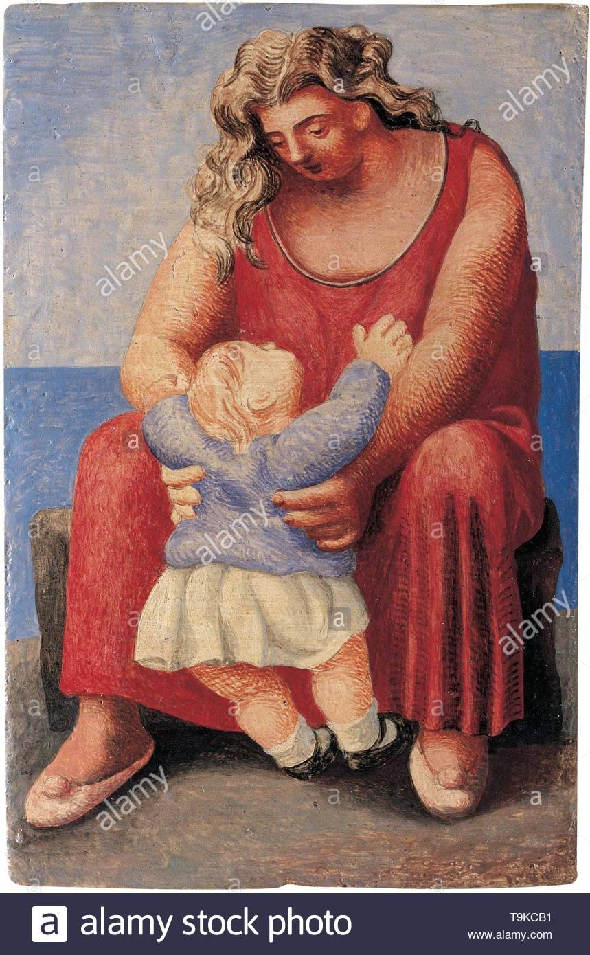 Mother and Child. Museum: Fundación Almine y Bernard Ruiz-Picasso para el Arte (FABA), Madrid. - Stock Image