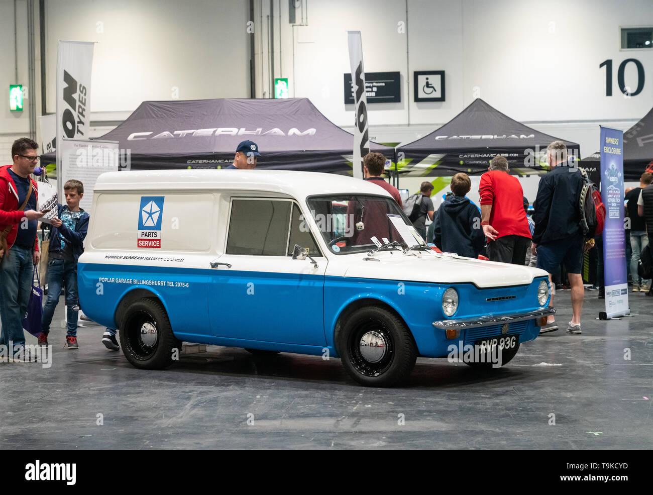 18th May 2019. London, UK. Classic restored Hilman Imp Van displayed at London Motor Show 2019. - Stock Image