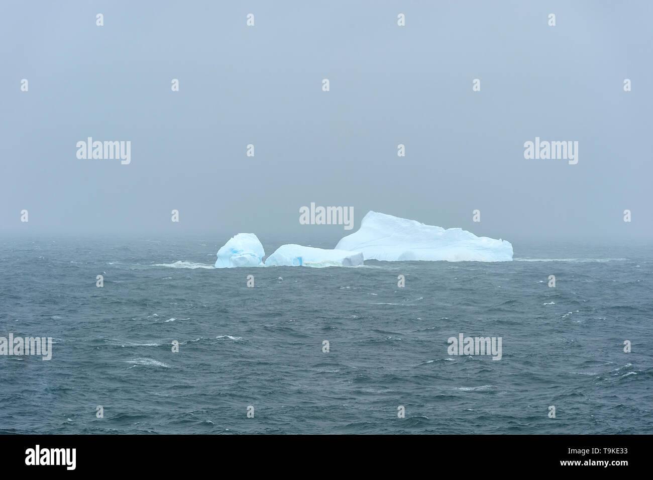 A lone iceberg in the North Atlantic - Stock Image