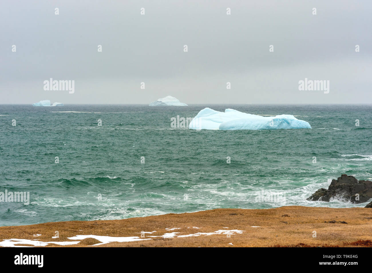 Three ice bergs - Stock Image
