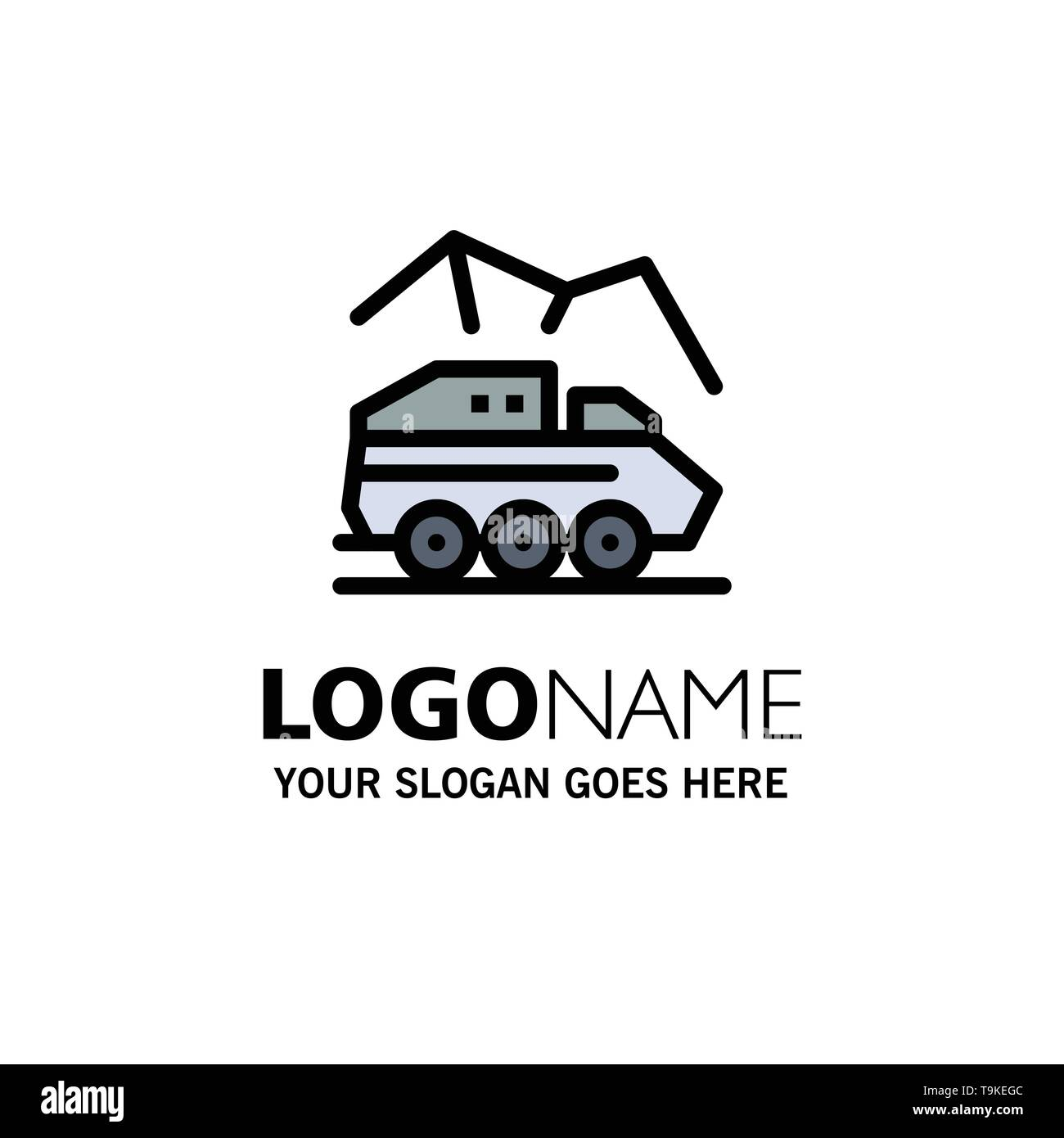 Exploration, Planet, Rover, Surface, Transport Business Logo Template. Flat Color - Stock Image