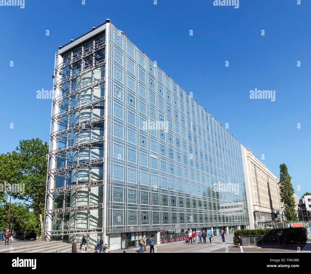 Arab World Institute building - Paris, France - Stock Image