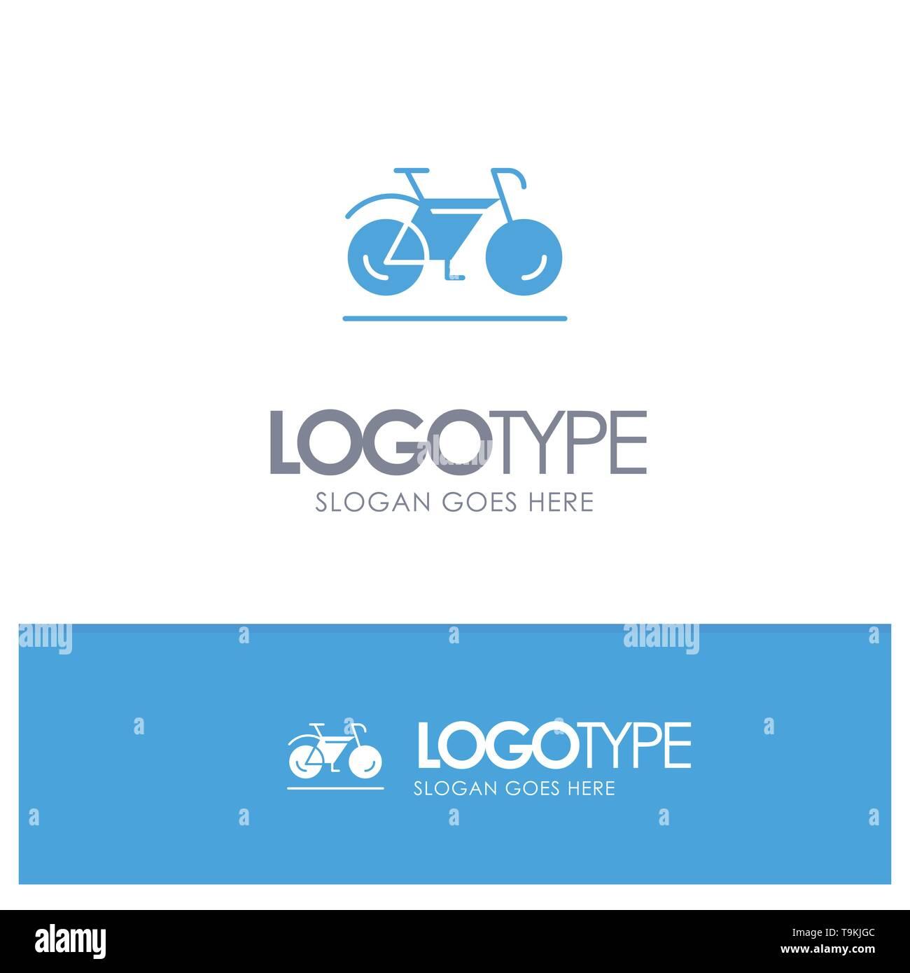 Bicycle, Movement, Walk, Sport Blue Logo vector - Stock Image
