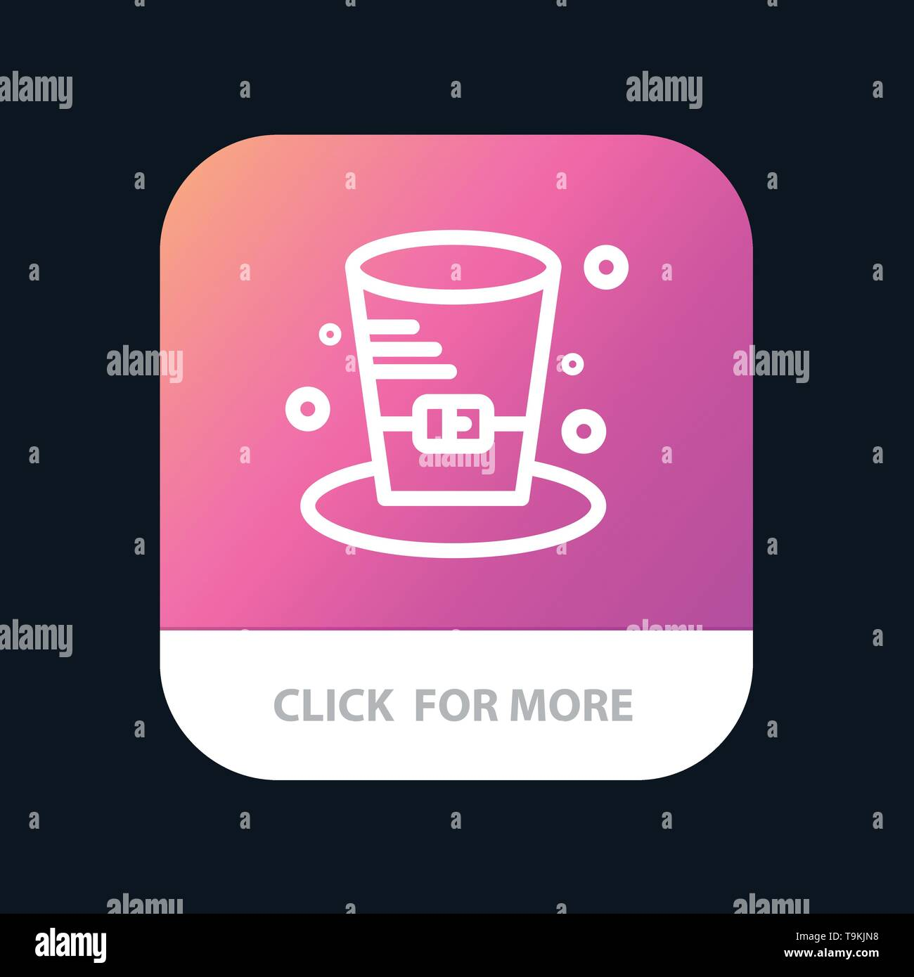 Cap, Detective, Hat, Canada Mobile App Button. Android and IOS Line Version - Stock Image