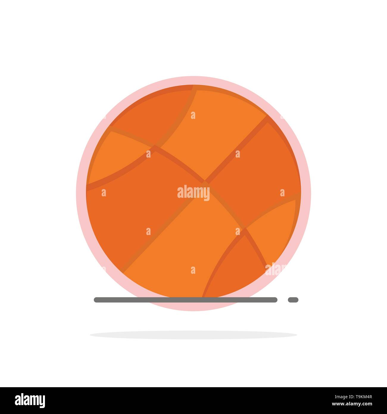 Ball, Sports, Game, Education Abstract Circle Background Flat color Icon - Stock Image