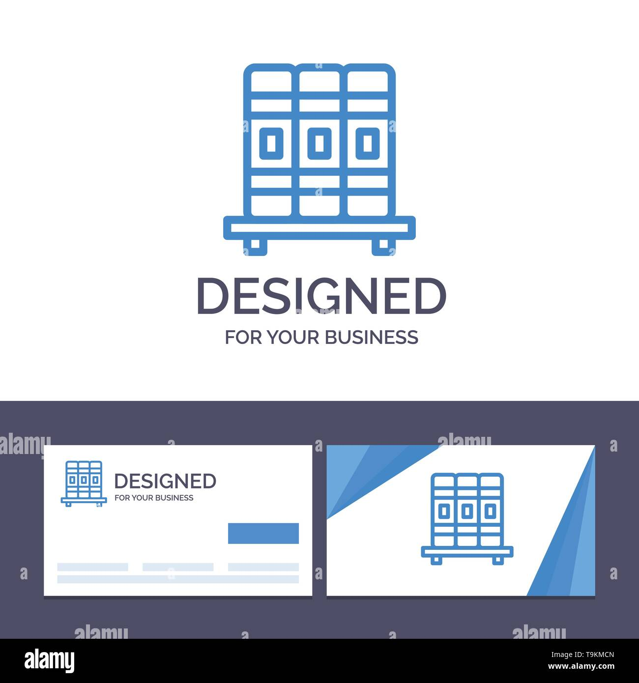 Creative Business Card and Logo template Cupboard, Education, Studies Vector Illustration - Stock Image