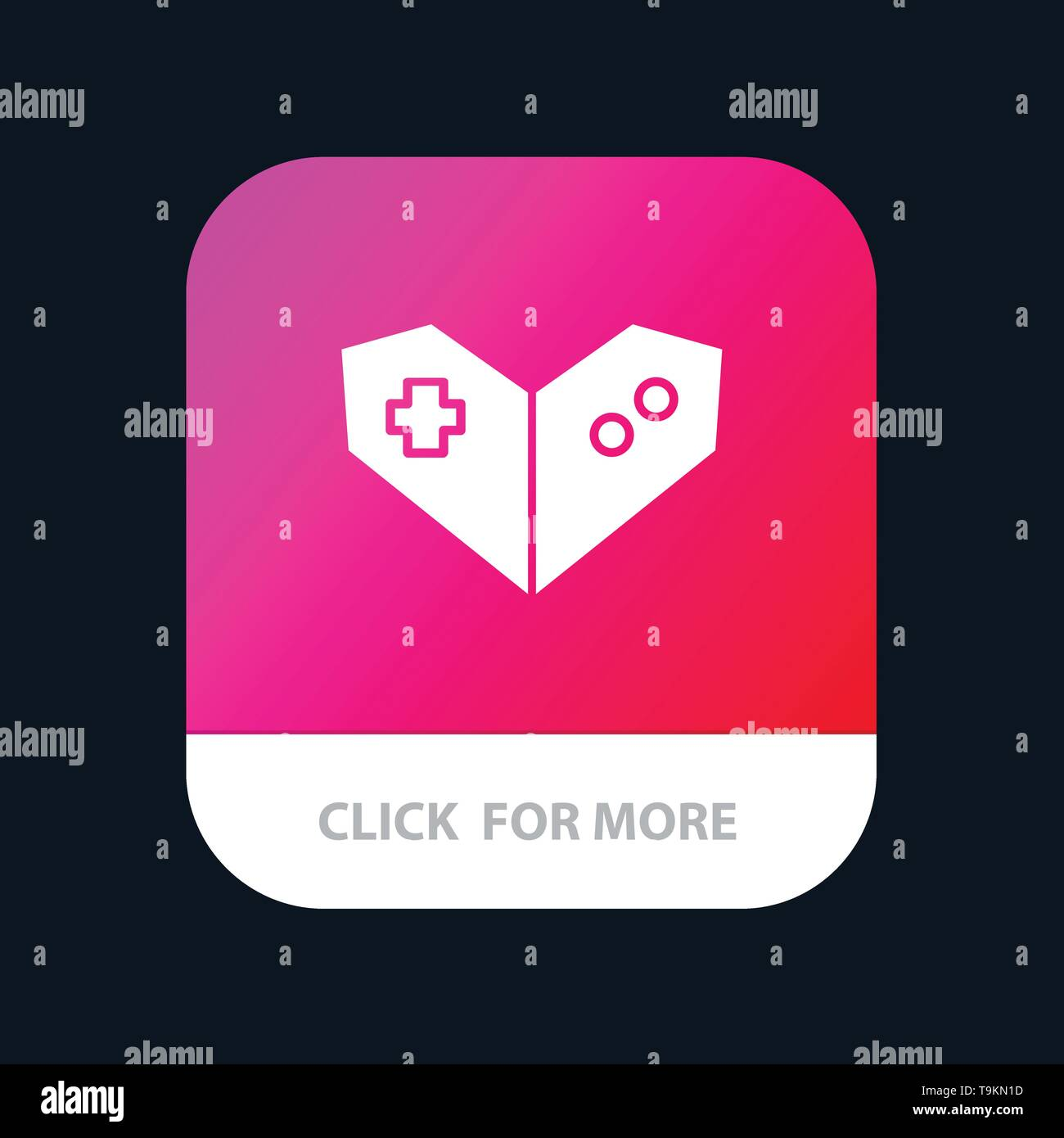 Gamepad, Videogame, PlayStation Mobile App Button. Android and IOS Glyph Version - Stock Image