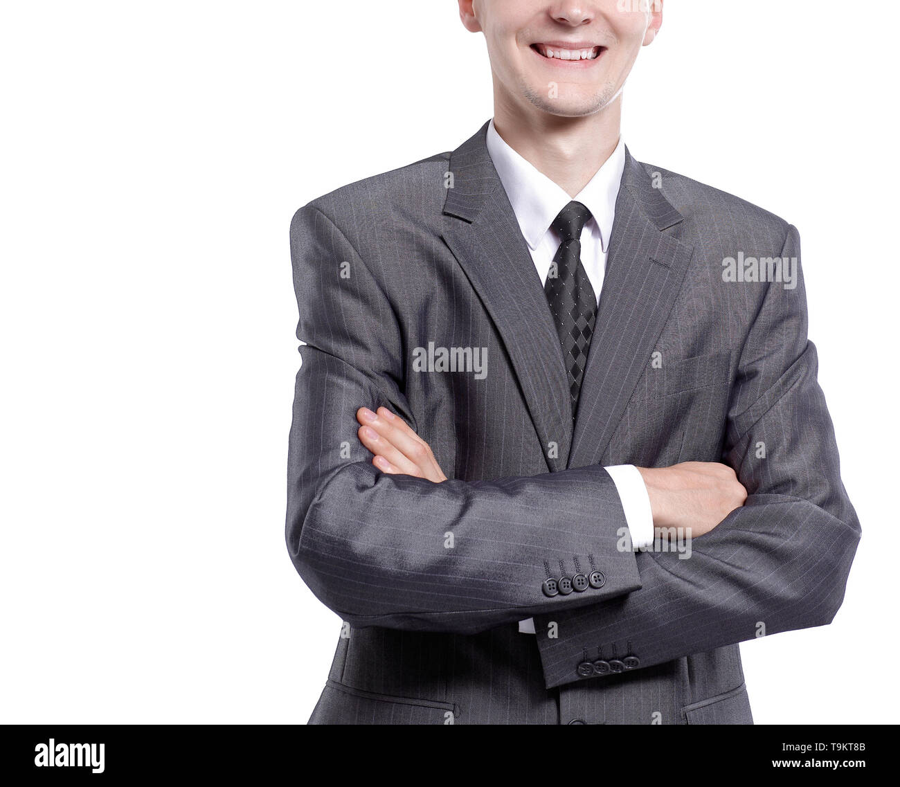 portrait of a young businessman. isolated on white background - Stock Image