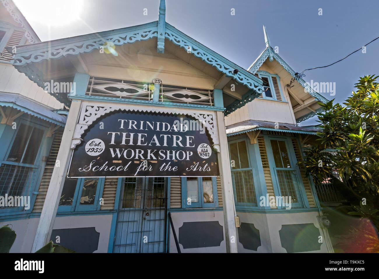 Trinidad Theatre Workshop Historic building 'Port of Spain' Trinidad - Stock Image