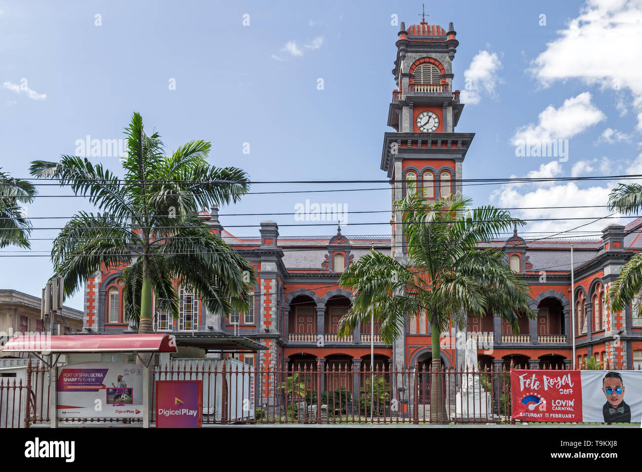 Queen's Royal College, Magnificent Seven House, Queen's Park Savannah, Port of Spain, Trinidad & Tobago - Stock Image