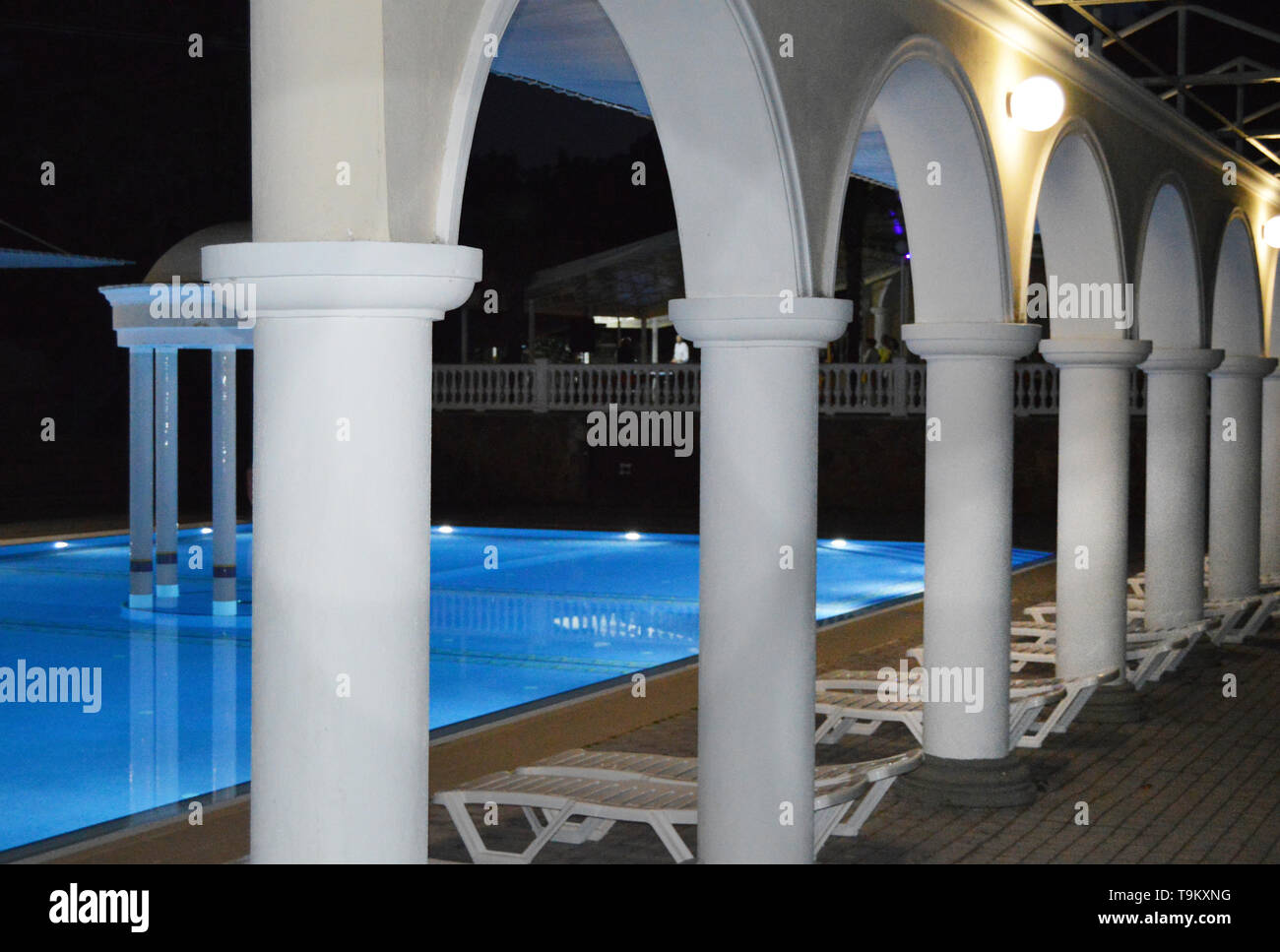 Arches By The Swimming Pool High Resolution Stock Photography And Images Alamy