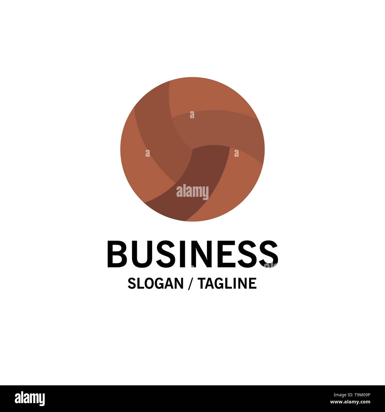 Ball, Volley, Volleyball, Sport Business Logo Template. Flat Color - Stock Image