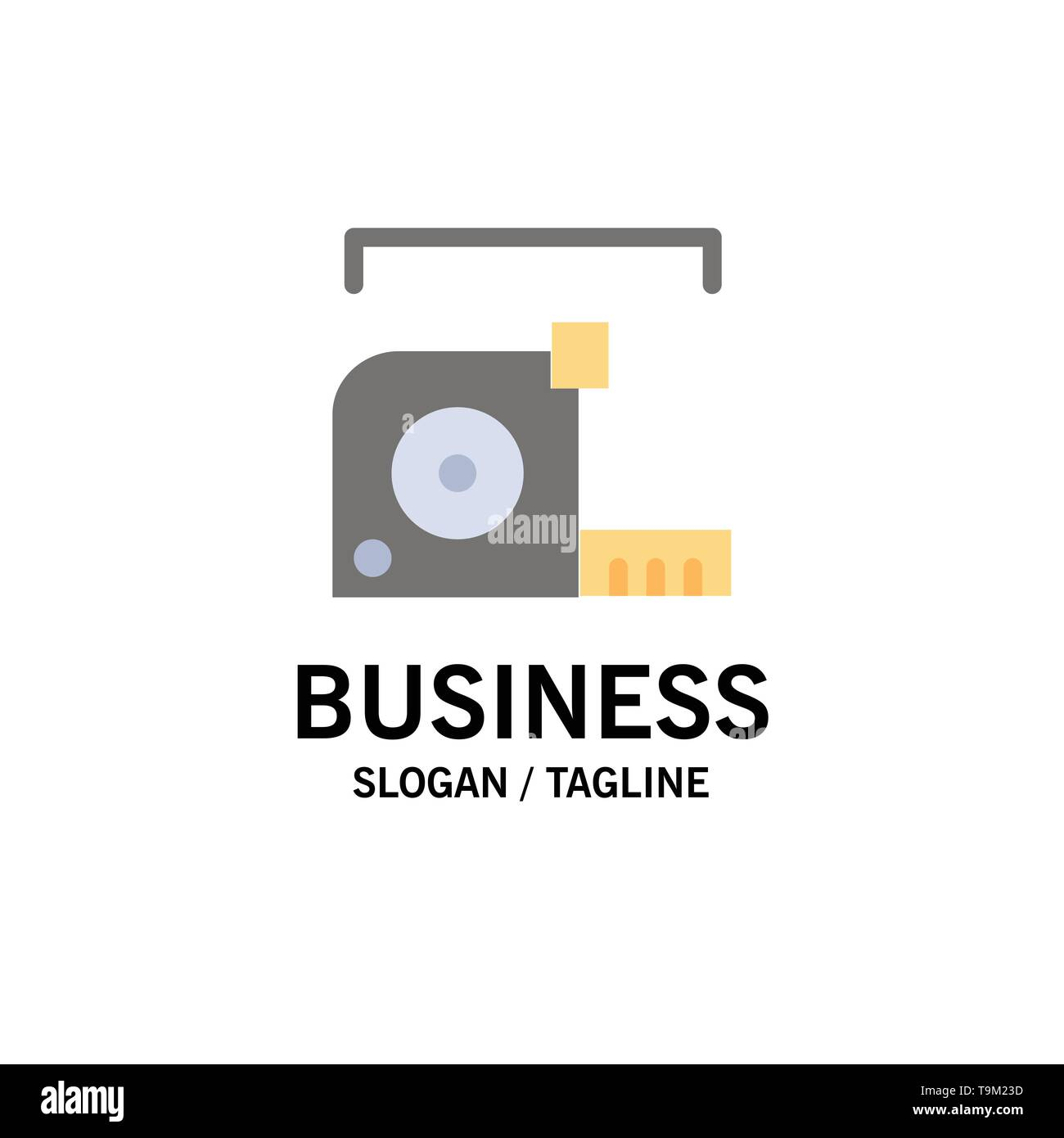 Measure, Measurement, Meter, Roulette, Ruler Business Logo Template. Flat Color - Stock Image