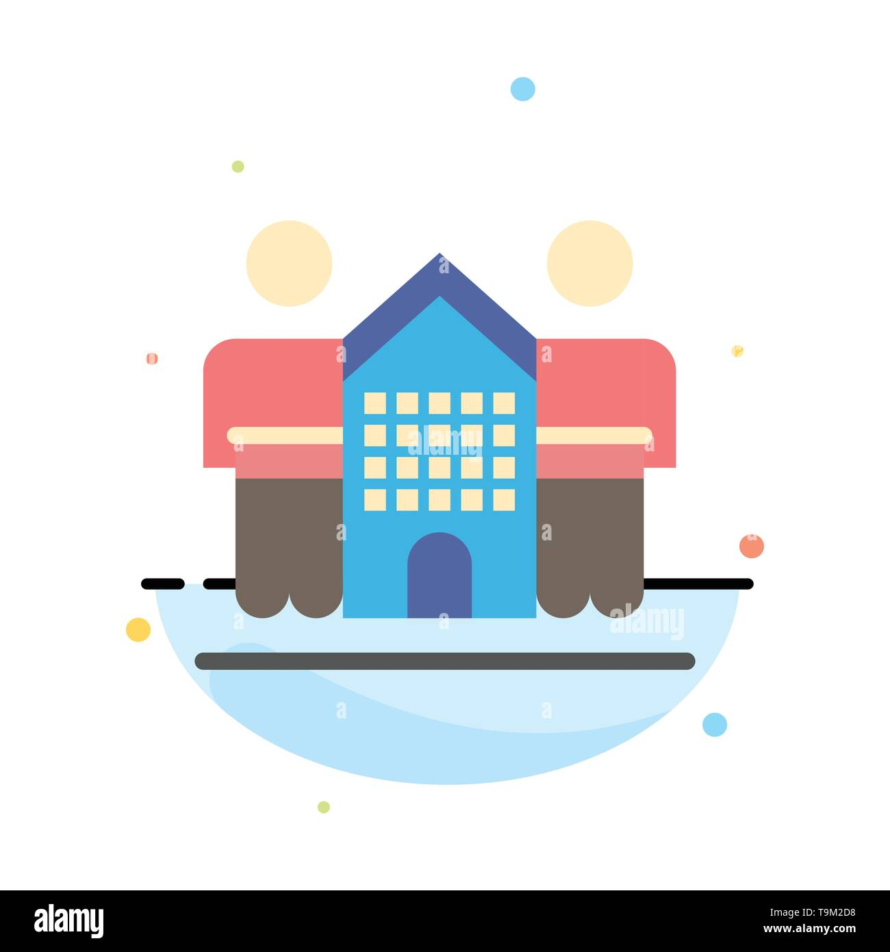 Culture, Friendly, Friends, Home, Life Abstract Flat Color Icon Template - Stock Image