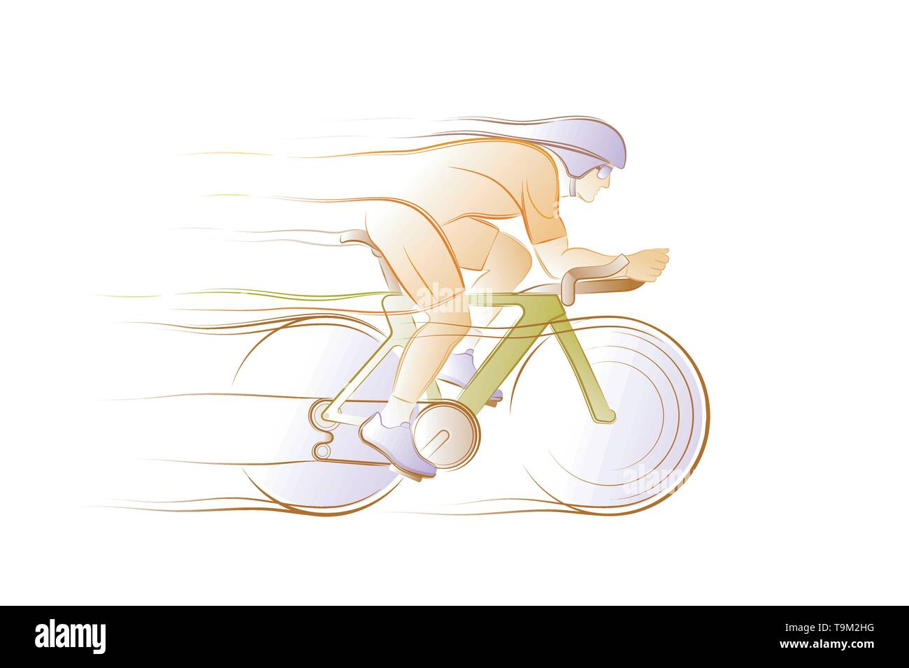 Bicycle Racer - Stock Vector