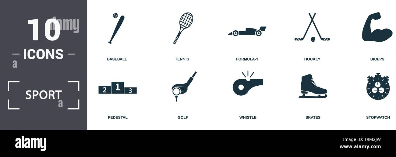 Sport Equipment icons set collection  Includes simple elements such