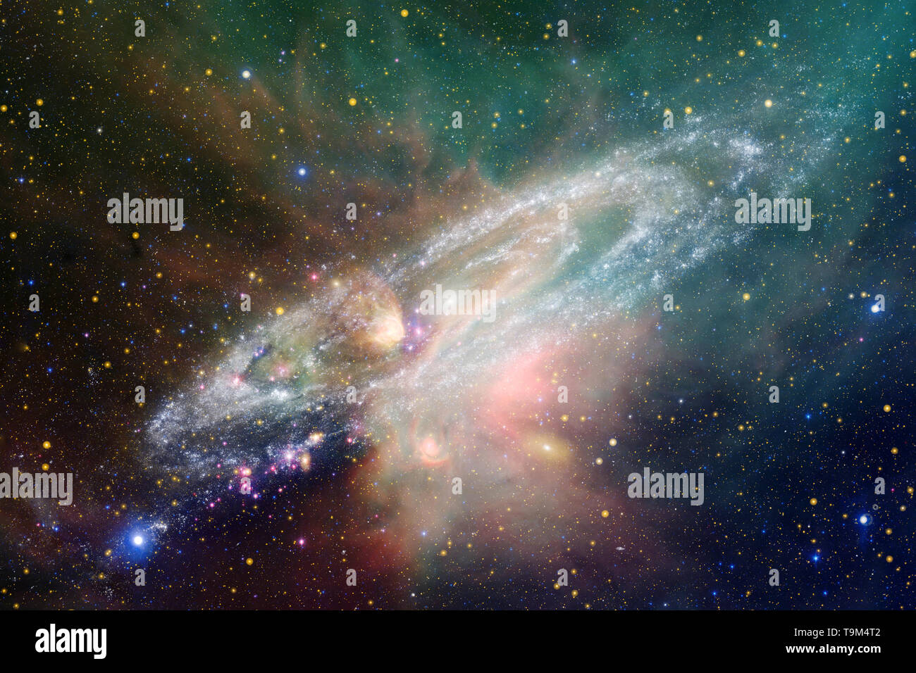 galaxies stars and nebulas in awesome space image colorful science fiction wallpaper elements of this image furnished by nasa T9M4T2