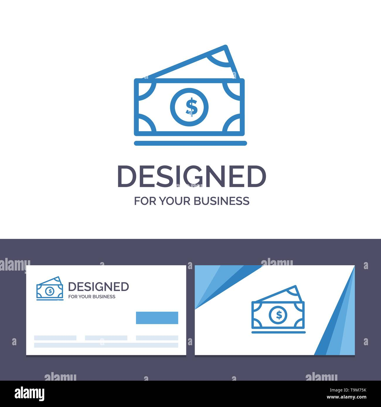 Creative Business Card And Logo Template Dollar Money American Usa Vector Illustration Stock Vector Art Illustration Vector Image 246921743 Alamy