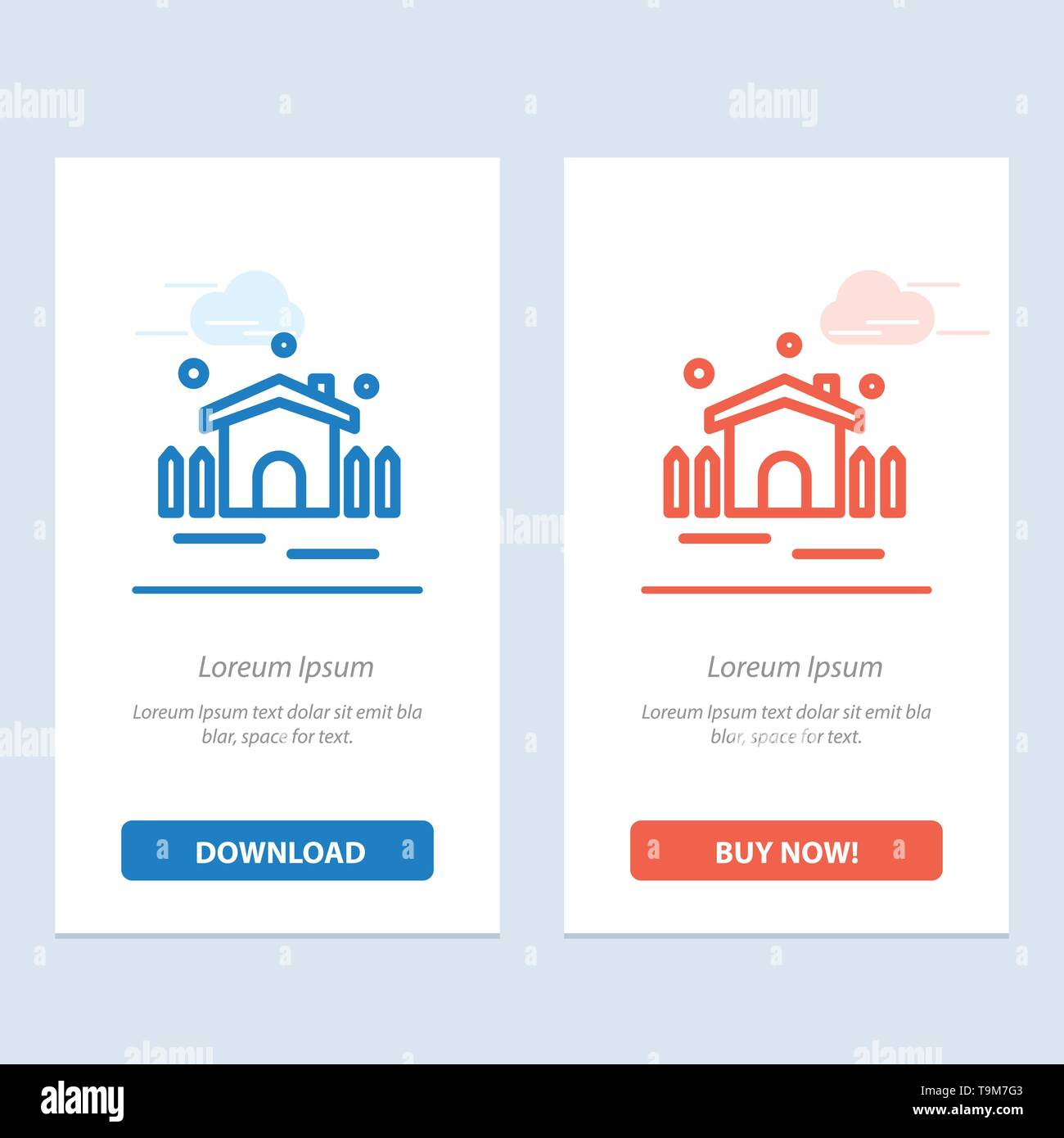 Construction, Garden, Patio, Shelter  Blue and Red Download and Buy Now web Widget Card Template - Stock Image