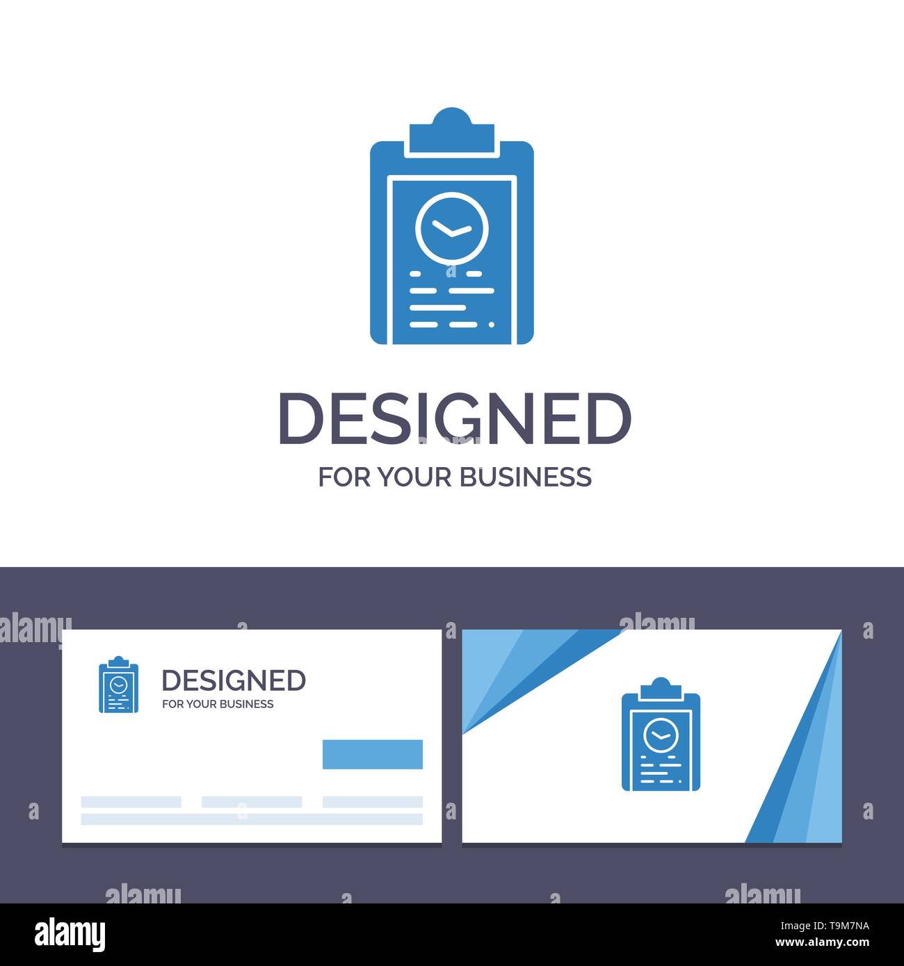 Creative Business Card and Logo template Clipboard, Coach, Plan, Progress, Training Vector Illustration - Stock Image