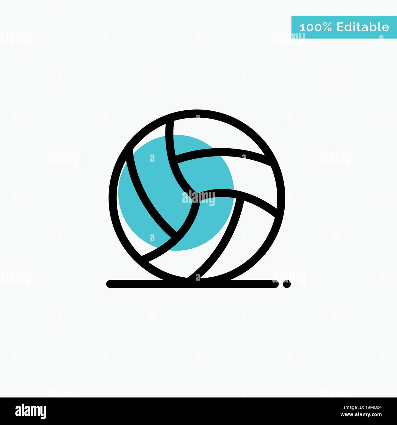 Football, Ireland, Game, Sport turquoise highlight circle point Vector icon - Stock Image