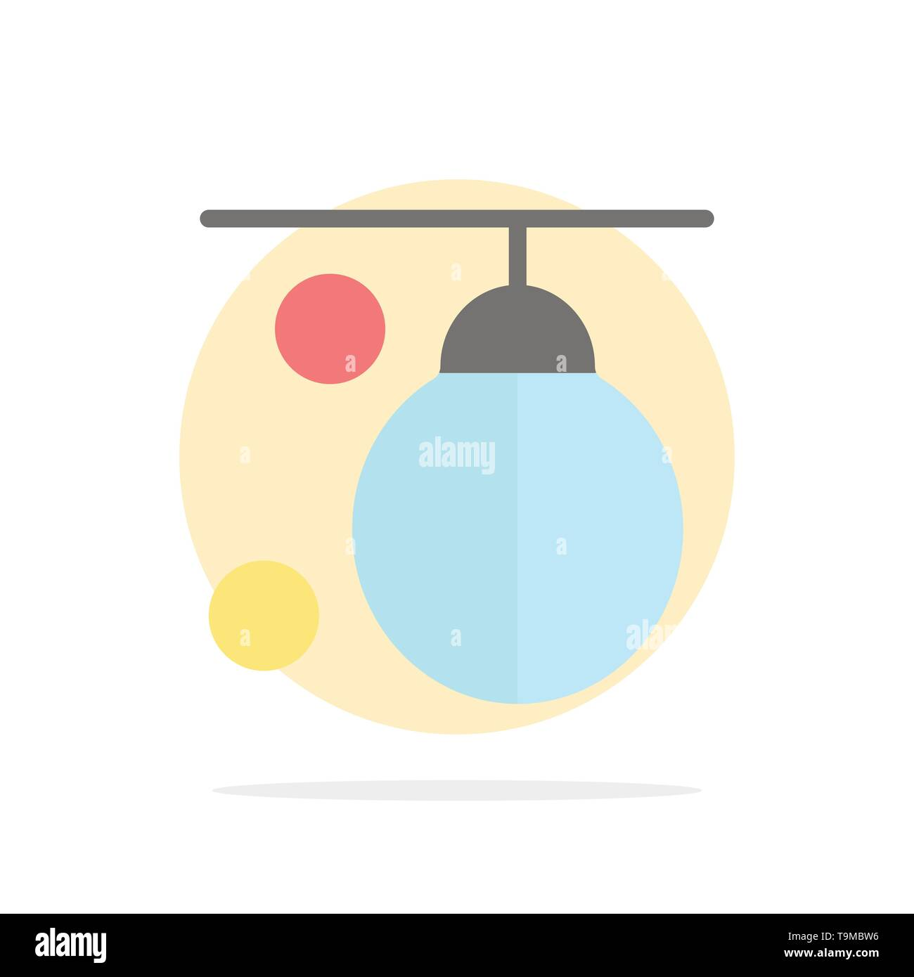 Bag, Boxer, Boxing, Punching, Training Abstract Circle Background Flat color Icon - Stock Image