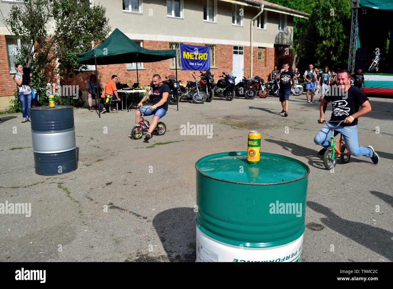 Motorcycle concentration' Black Roses ' - Rose Festival in KAZANLAK.-.Bulgaria                 - Stock Image