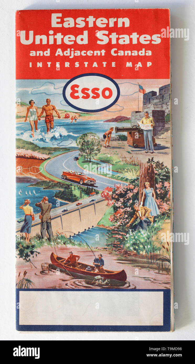Picture of: Old Vintage Road Map Stock Photo Alamy