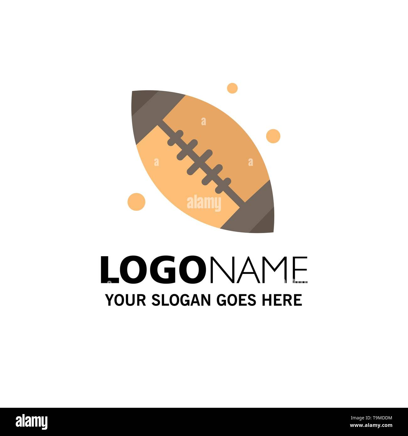 Canada, Ball, Base Ball, Canada Ball Business Logo Template. Flat Color - Stock Image