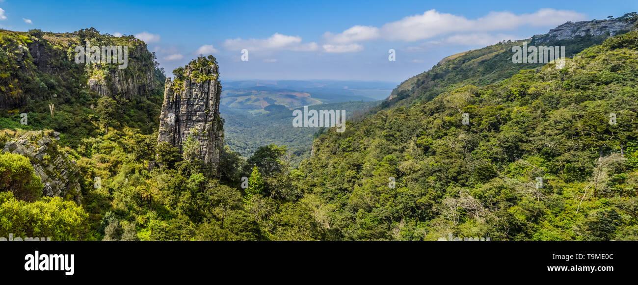 The Pinnacle rock a very tall quartzite rock in Graskop Mpumalanga South Africa - Stock Image