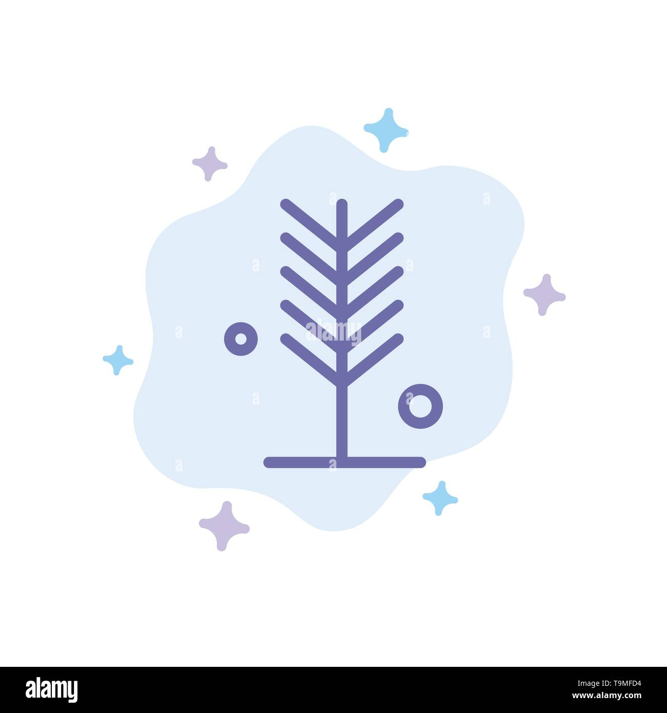 Eco, Environment, Nature, Summer, Tree Blue Icon on Abstract Cloud Background - Stock Image