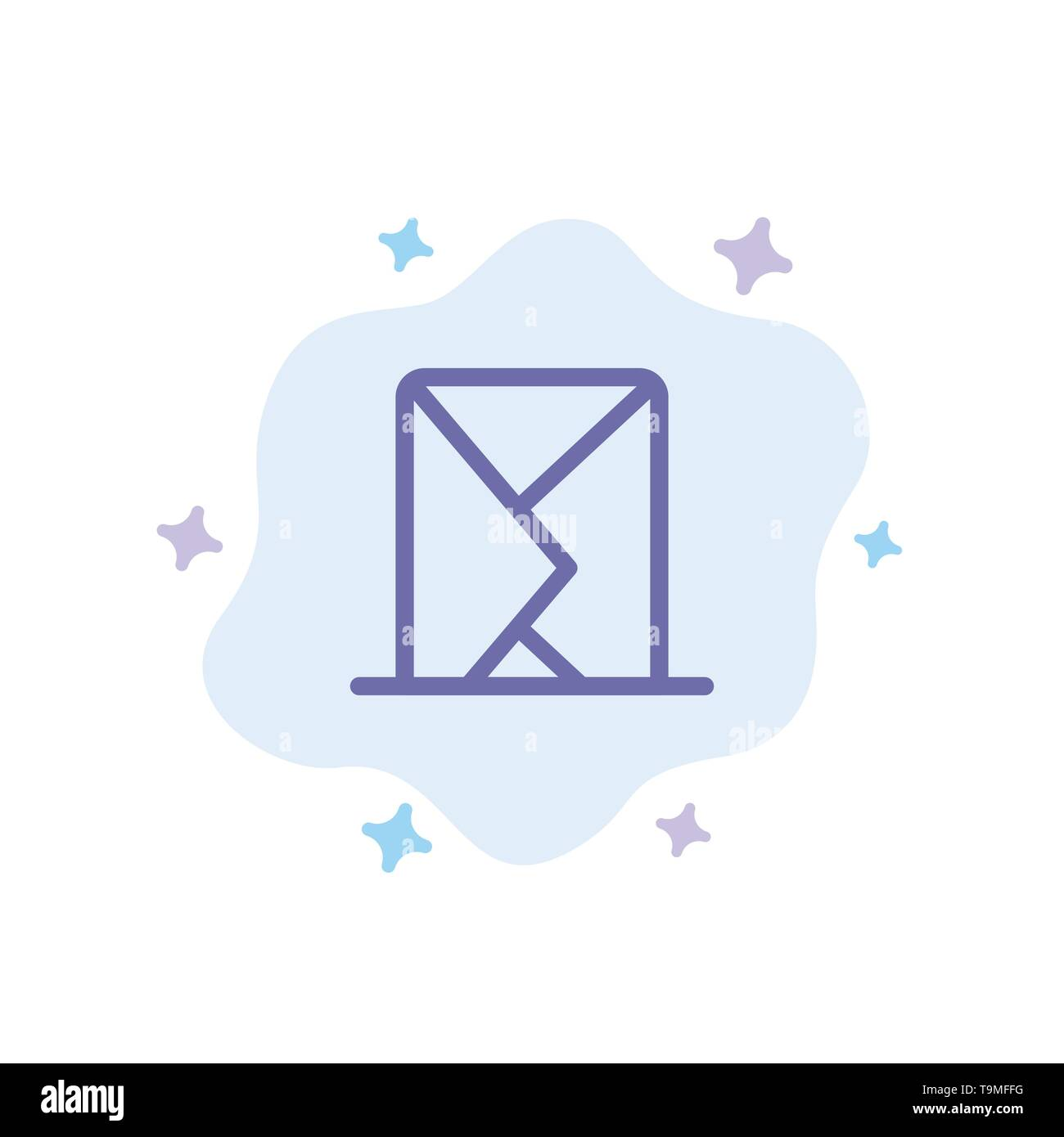Email, Envelope, Mail, Message, Sent Blue Icon on Abstract Cloud Background - Stock Image