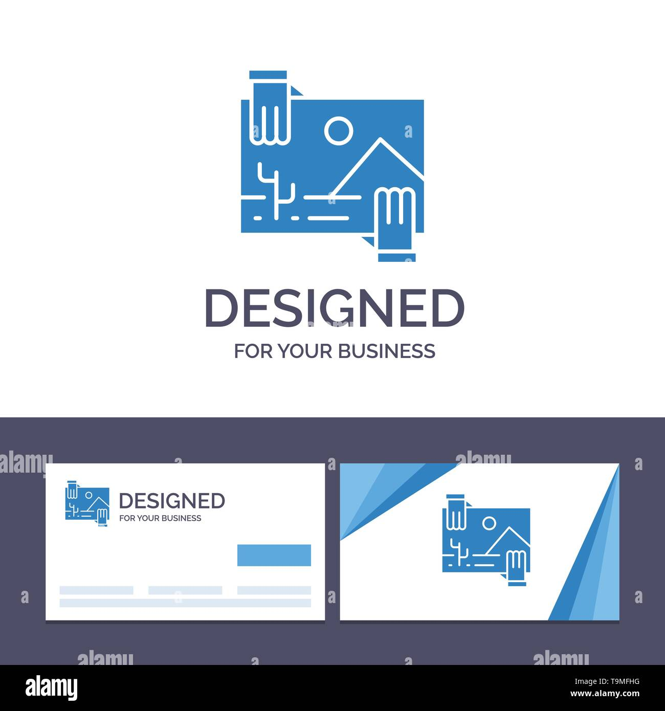 Creative Business Card and Logo template Contribution, Distribution, Dividend, Image, Photo Vector Illustration - Stock Image