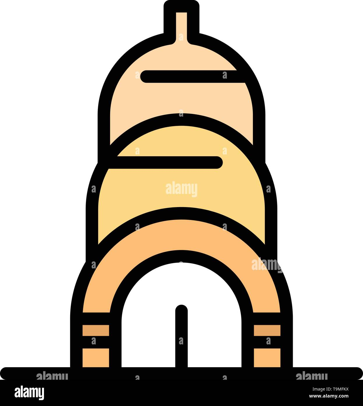 Chrysler, Building, Usa Business Logo Template. Flat Color - Stock Vector