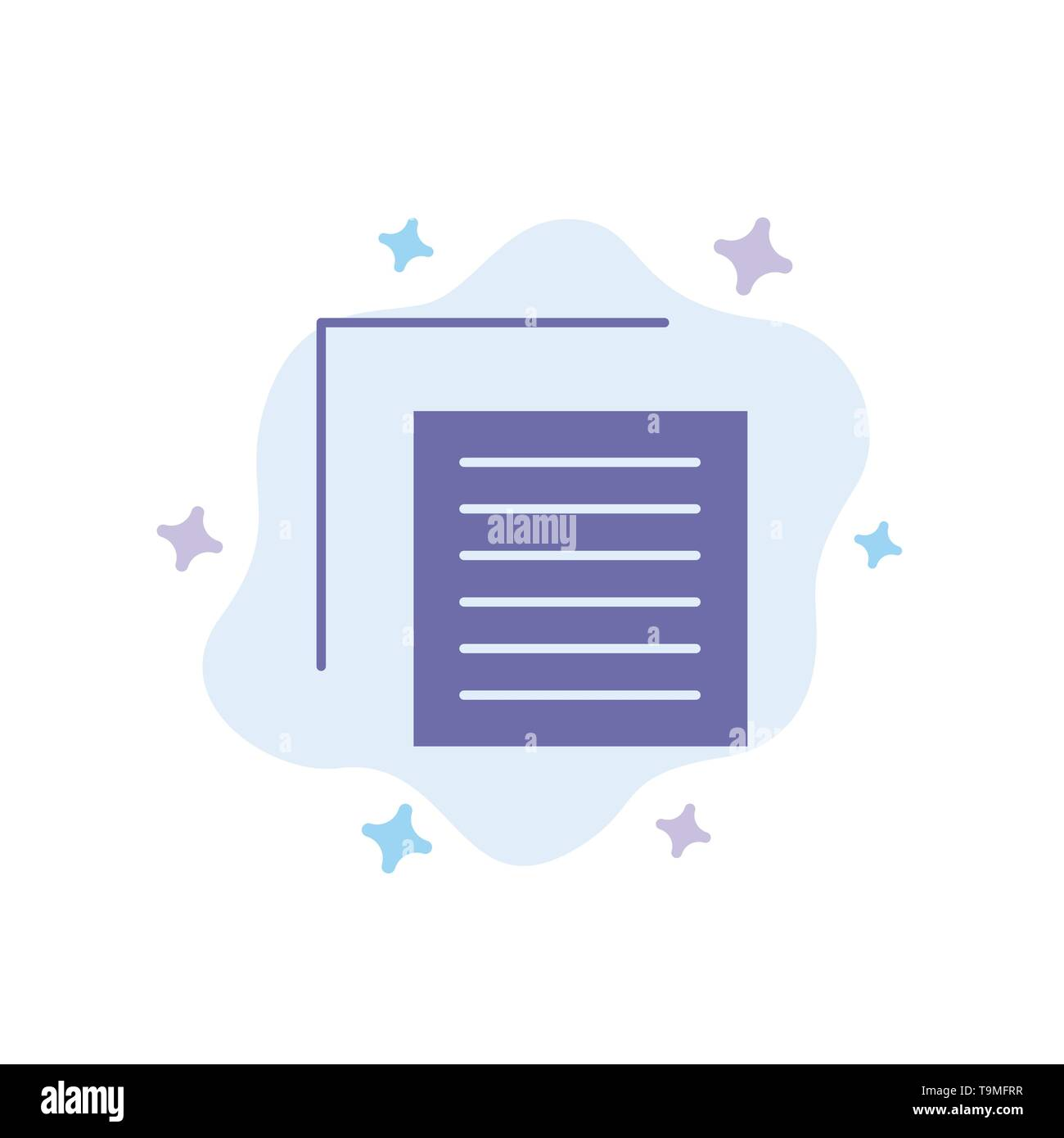 Document, File, User, Interface Blue Icon on Abstract Cloud Background - Stock Image