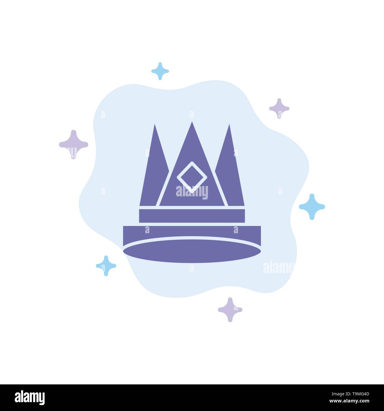Crown, King, Empire, First, Position, Achievement Blue Icon
