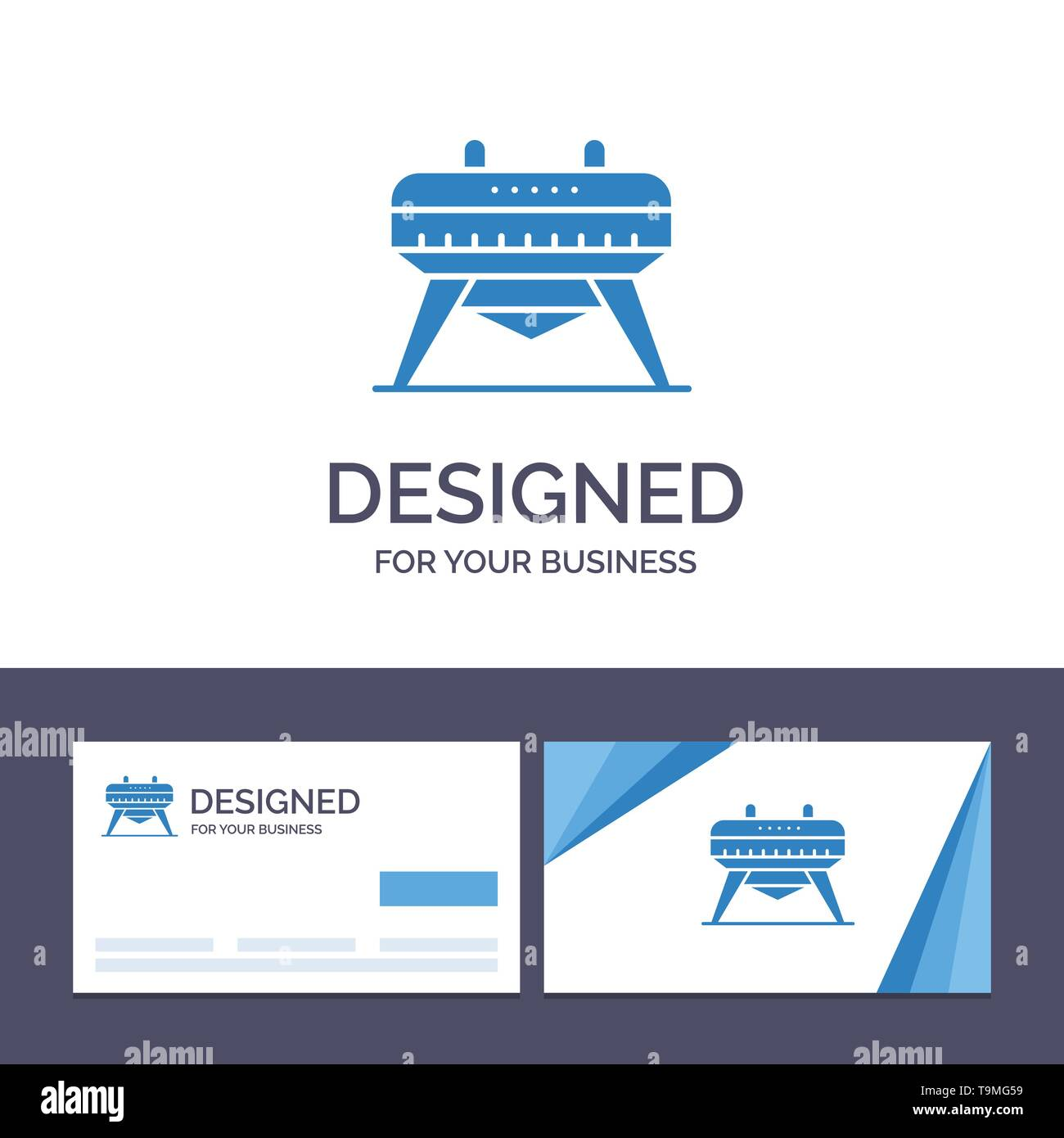 Creative Business Card and Logo template Gymnastic, Gymnastics, Horse Vector Illustration - Stock Image