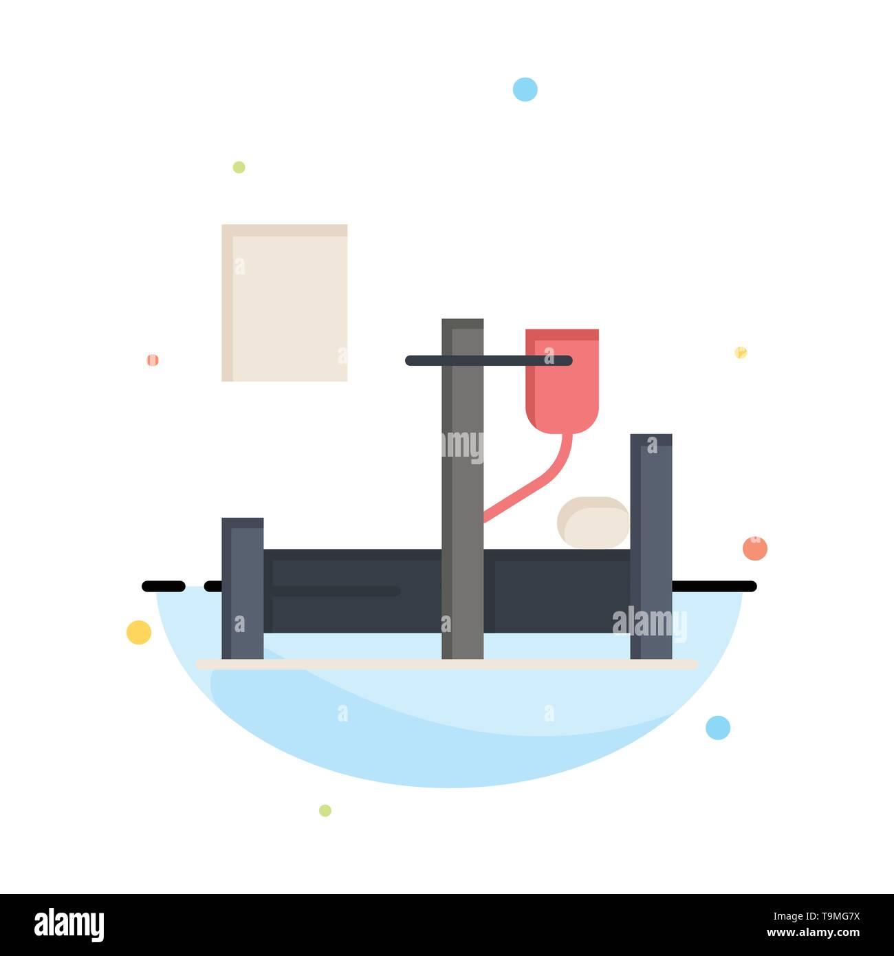 Medical, Drip, Medicine, Hospital Business Logo Template. Flat Color - Stock Image