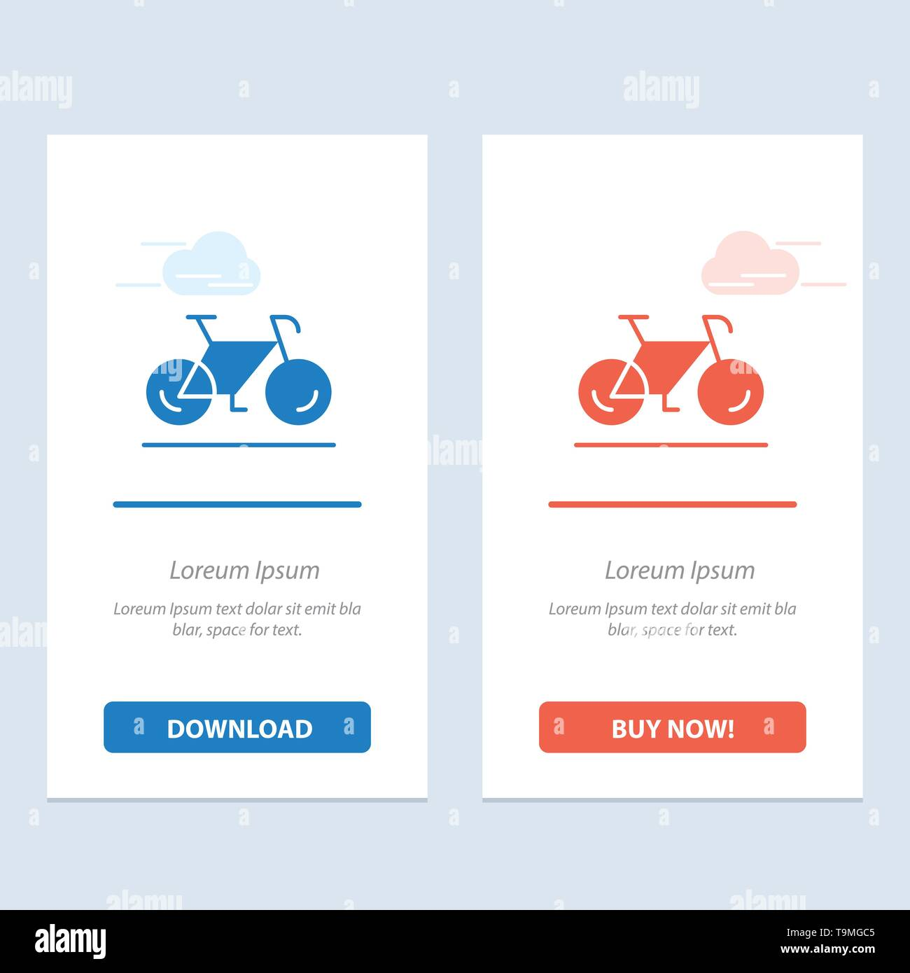 Bicycle, Movement, Walk, Sport  Blue and Red Download and Buy Now web Widget Card Template - Stock Image