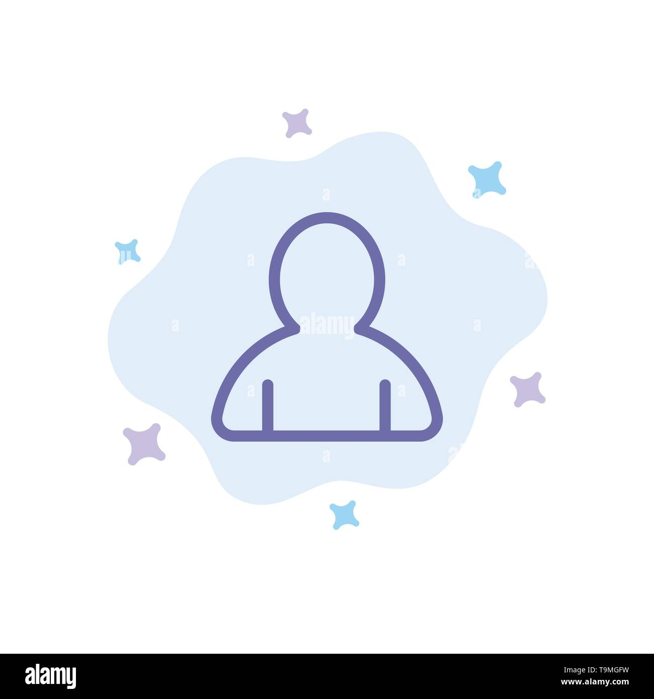 Account, Avatar, User Blue Icon on Abstract Cloud Background - Stock Image