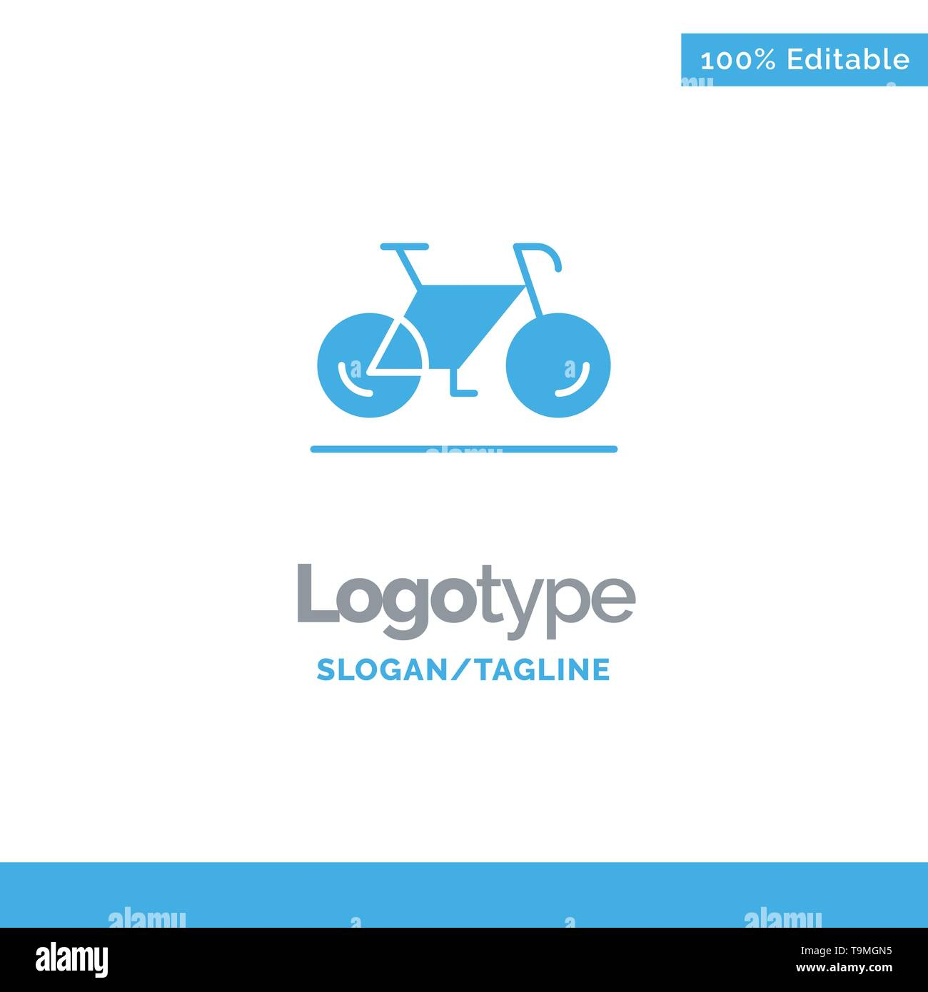 Bicycle, Movement, Walk, Sport Blue Business Logo Template - Stock Image
