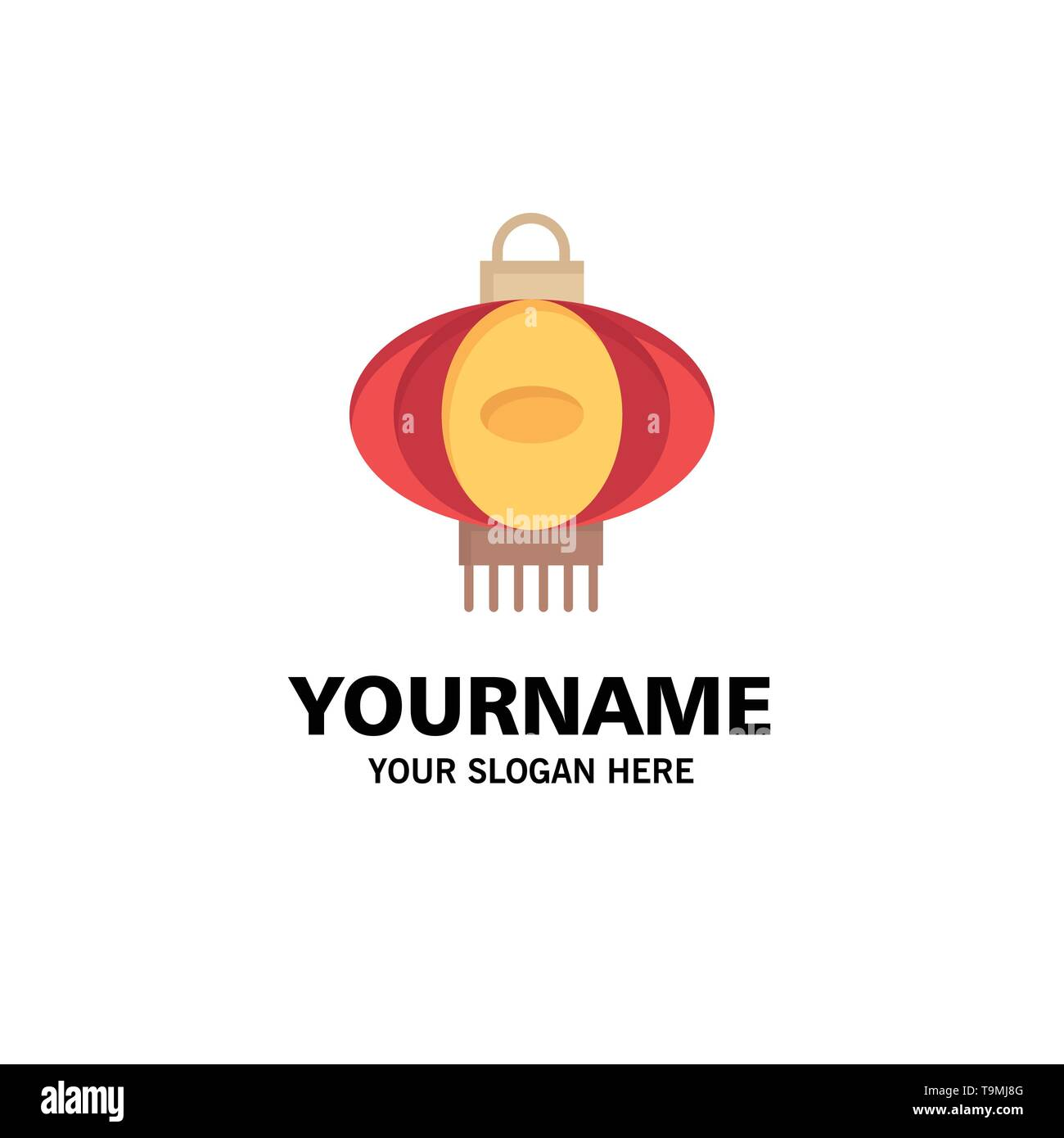 Lantern Light China Chinese Business Logo Template Flat Color Stock Vector Image Art Alamy