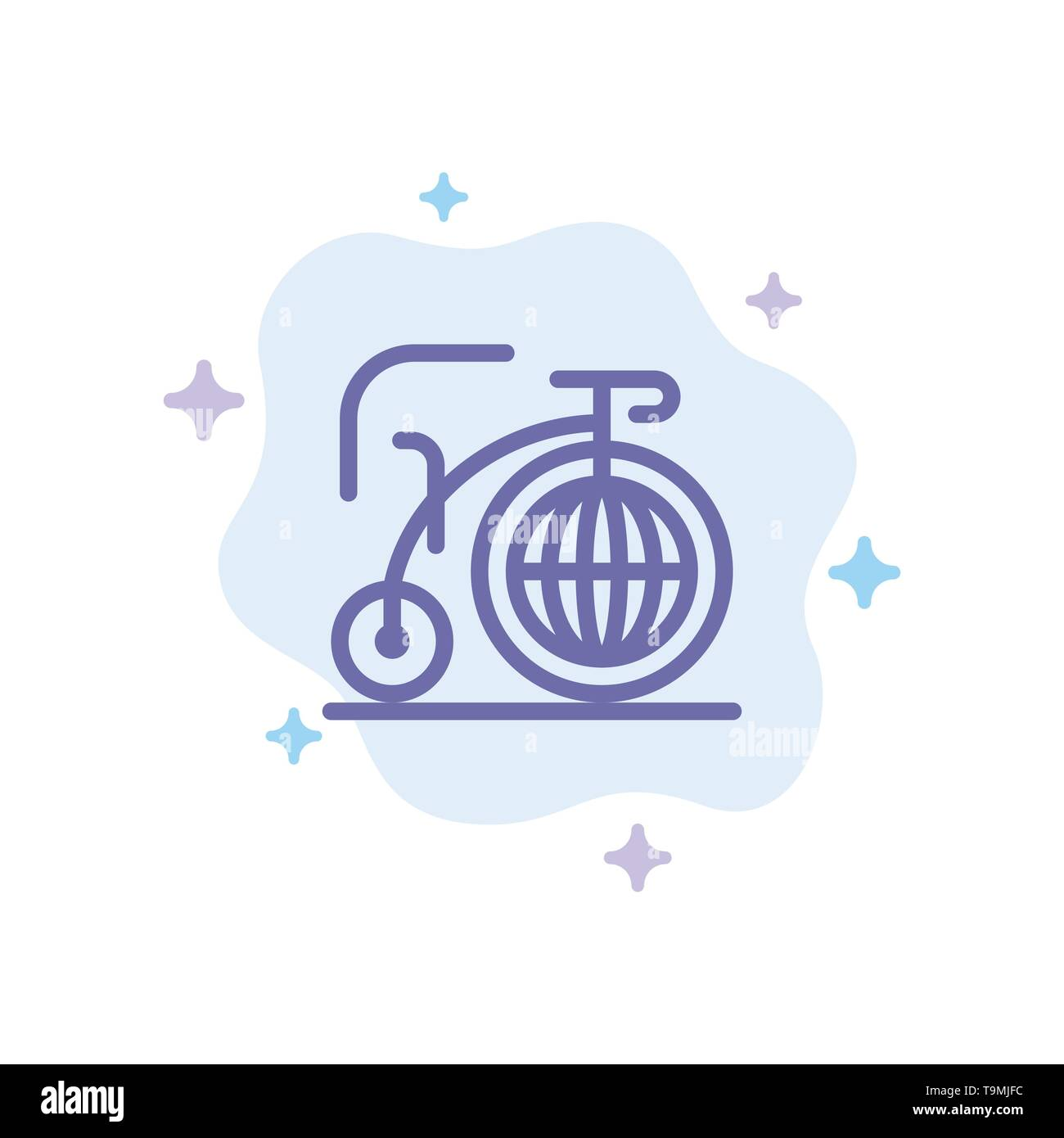 Big, Bike, Dream, Inspiration Blue Icon on Abstract Cloud Background - Stock Image