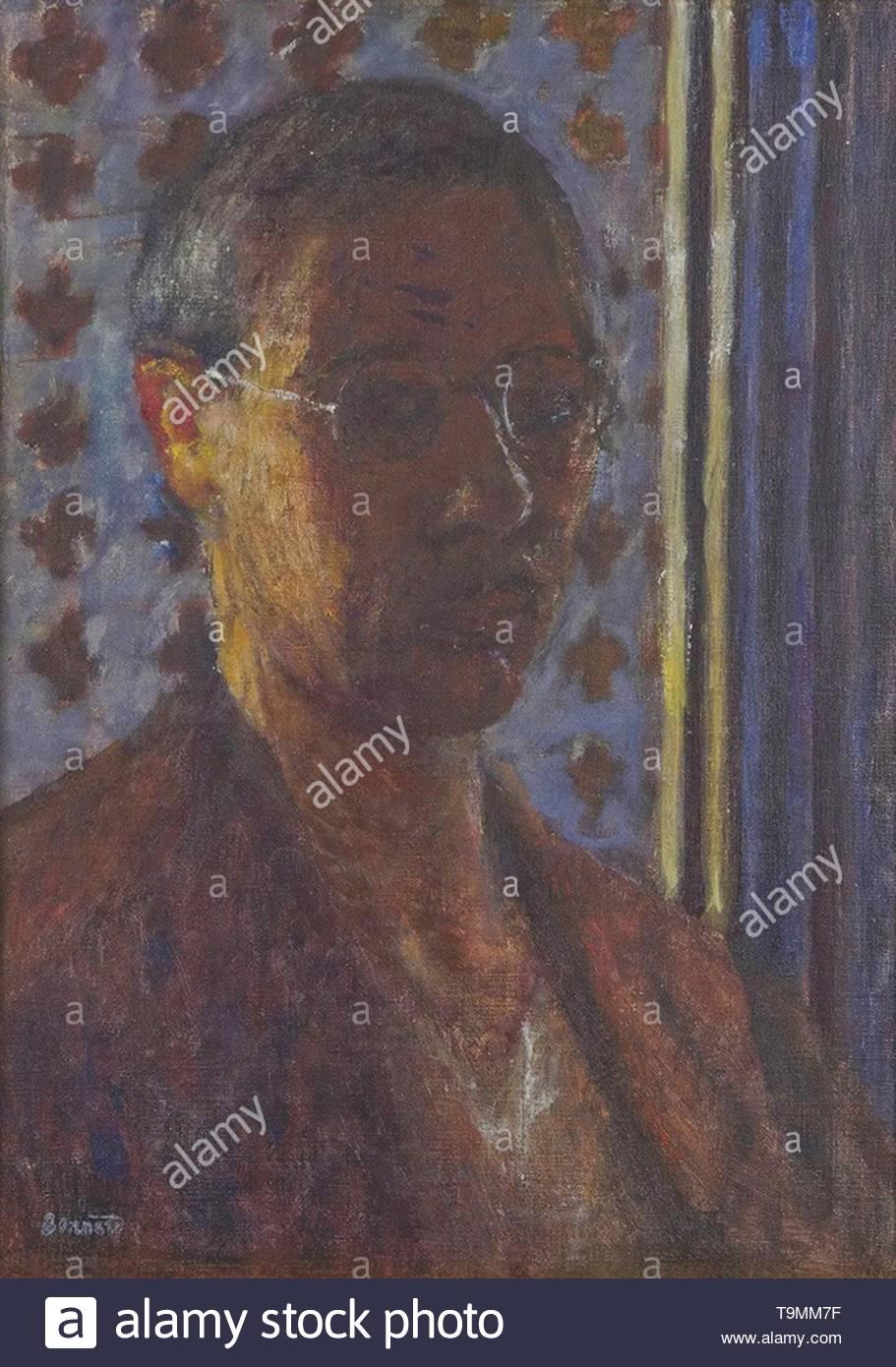 Self-Portrait. Museum: PRIVATE COLLECTION. Author: PIERRE BONNARD. - Stock Image