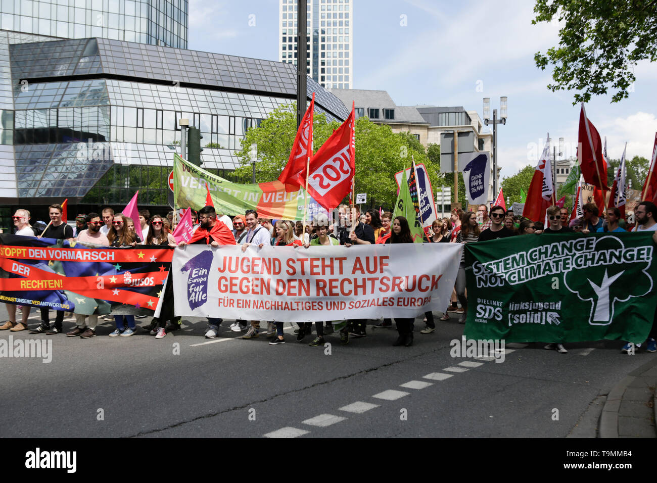 Frankfurt, Germany  19th May 2019  The banner of the youth