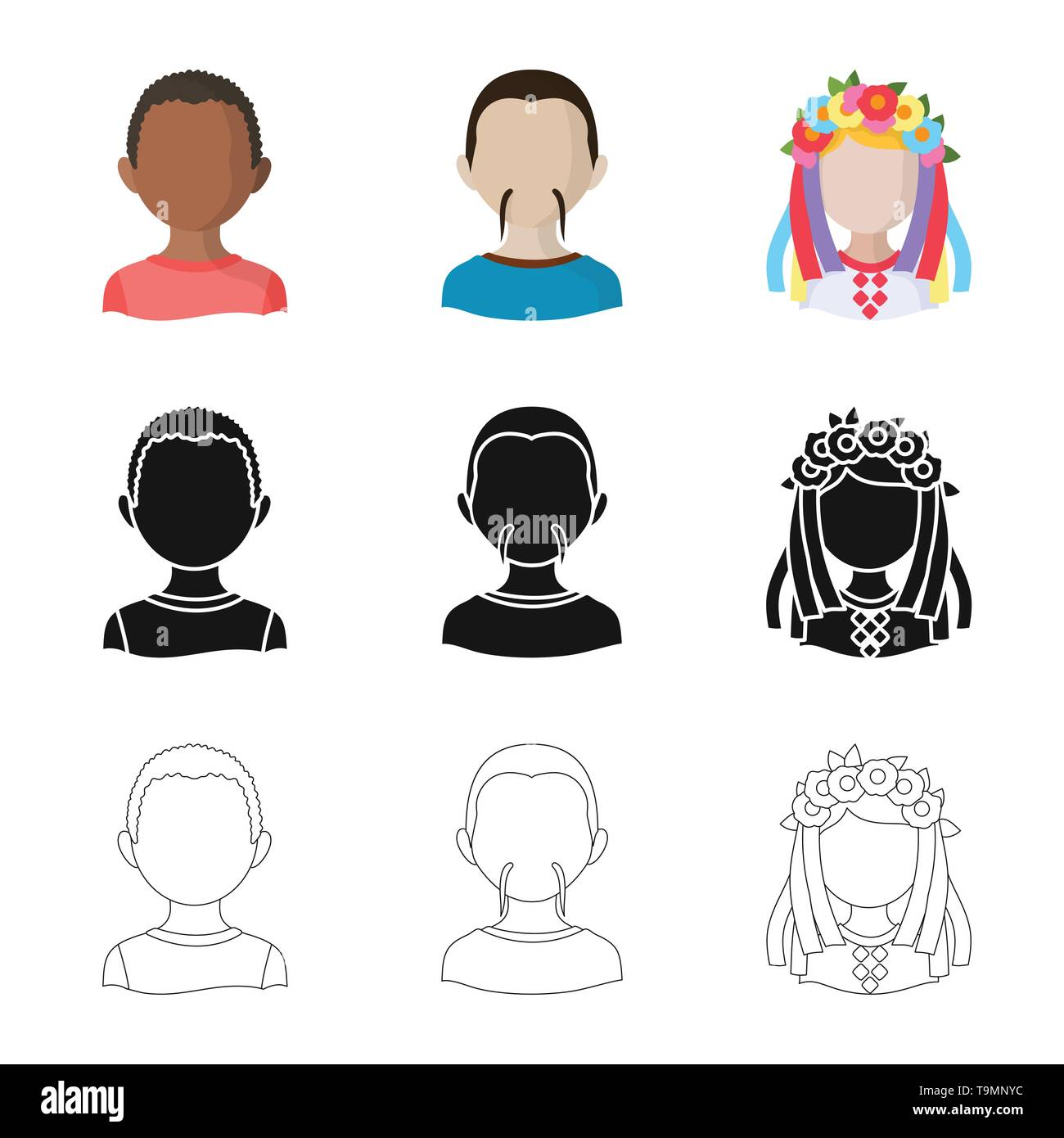 Isolated object of imitator and resident logo. Collection of imitator and culture vector icon for stock. - Stock Image