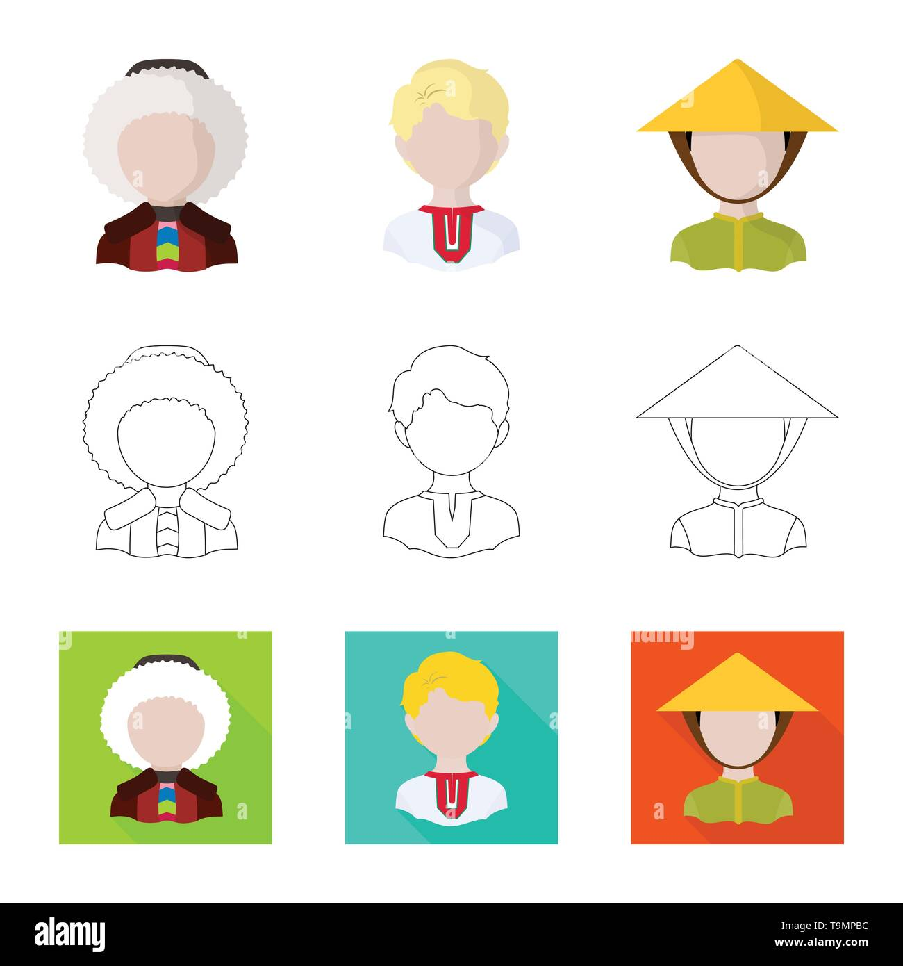 Isolated object of imitator and resident logo. Set of imitator and culture vector icon for stock. - Stock Image